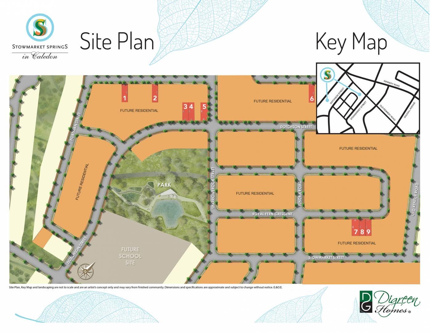 Stowmarket Springs Site Plan