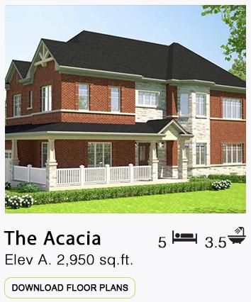 The Acacia Elevation A Floor Plans